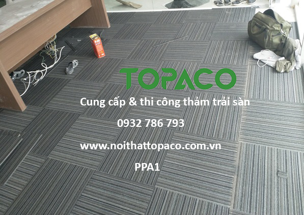 Thảm gạch trải sàn văn phòng